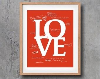 LOVE Art Prints and Art Posters, Digital print 8 x 10