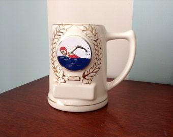 Olympic Swimmer Trophy Mug