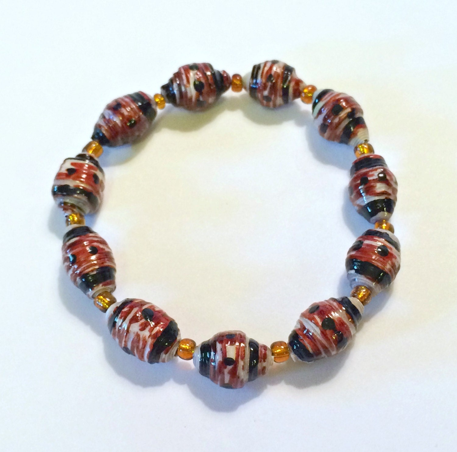 how to make african paper beads