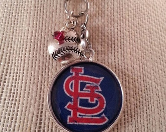 Cardinals Baseball necklace