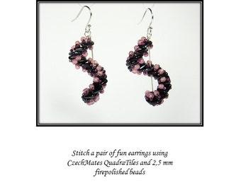 Spiral Staircase earrings - PDF tutorial