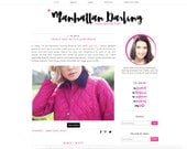 Manhattan Darling Blogger Template - Blogger Theme - Premade Blogger - Repsonsive Blogger - Hot Pink Fashion Blog Lifestyle Blog Modern