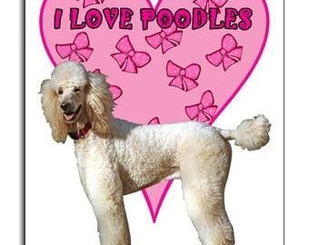 Poodle Dog, I Love Poodles,  Mouse Mat, Mouse Pad