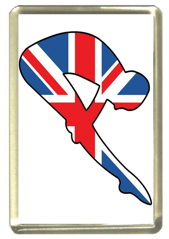 Union Jack Flag Diver Fridge Magnet 7cm by 4.5cm,