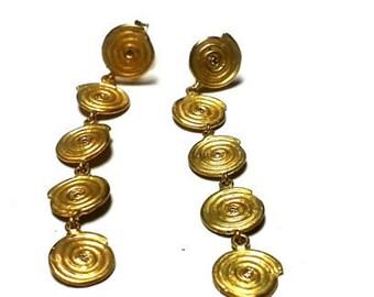 Dangle & Drop Gold Earrings Nickel free earrings Handmade Earrings Solid Gold Hanging Earrings gold Earrings chandelier earrings Unique