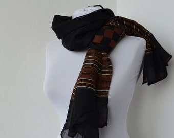 CLEARANCE SALE - Black Scarf - Fashion Scarf - Trendy Fabric Scarf - Shawl Scarf   844