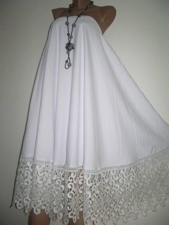 boho skirt white skirt maxi skirt lace skirt bohemian by
