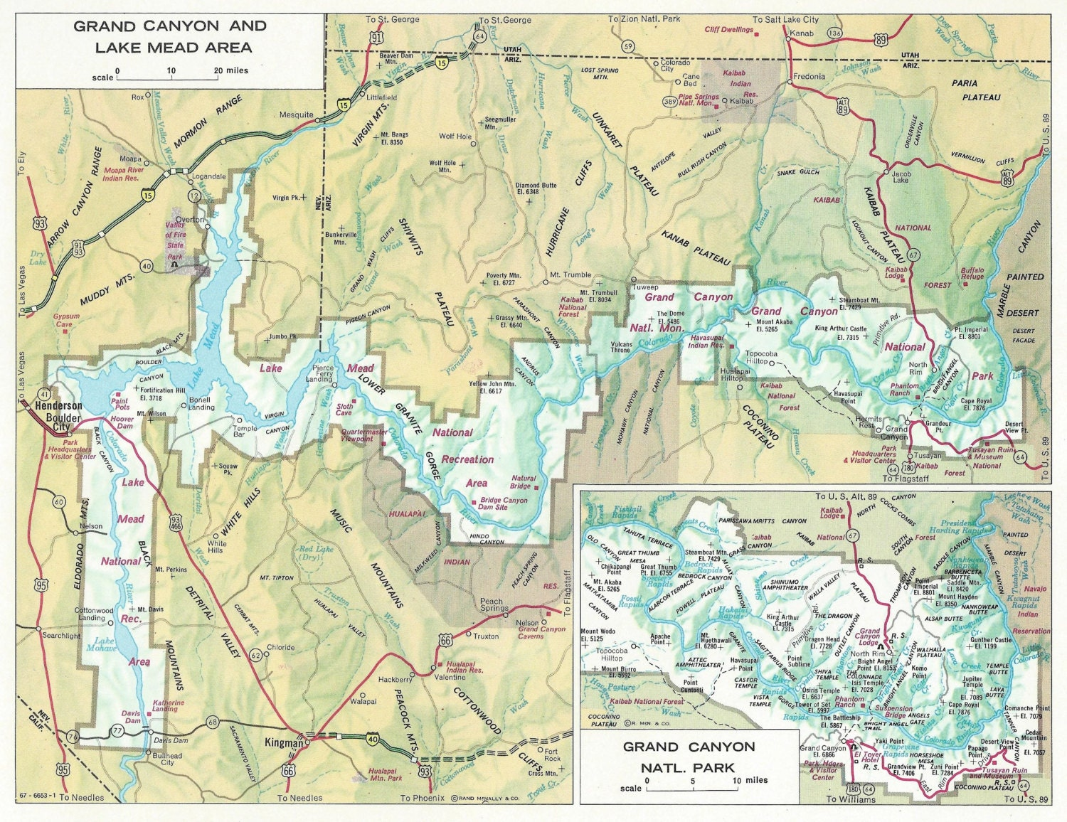 Hoover Dam Map Grand Canyon Images