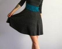 SALE! Jersey Skater Dress with Lace