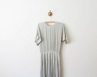 vintage 80s ann taylor diamond print dress