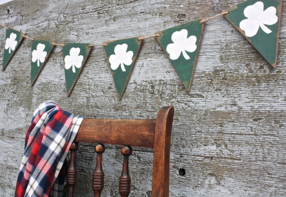 St Patrick's Day Banner Wood