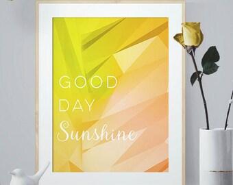 Good Day Sunshine, The Beatles Art Print, Lyric Poster, Song Lyrics, Music Art, Wall Decor, Music Lyric art, Music Lover Gift, 4x6, 5x7