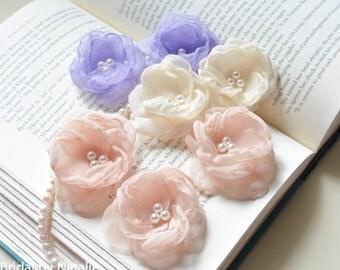 Flower Bridal Hair Pins - Bridal Hair Pin - Wedding Bobby Pins - Hair Pins for Wedding - Flower Hair Pins for Weddings - Set of 2