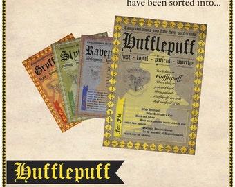 Hufflepuff Sorting Hat Certificate