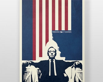 House of Cards Poster - Democracy Print, Frank Underwood, Kevin Spacey, Framed Poster