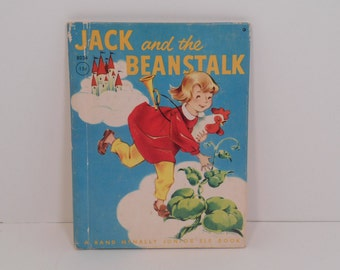 Junior Elf Book, Jack and the Beanstalk by Anne Scheu Berry, Rand McNally Mid Century Childrens Series