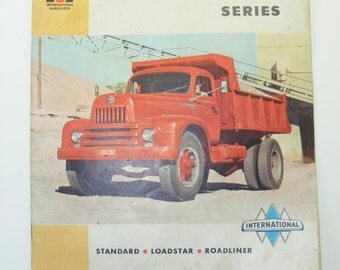 1950s Vintage International Harvester L-200 - L-210 Series Brochure, Original International Ephemera