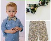 Grün Liberty Print Kinder Krawatte, Fliege Kinder, grüne Blumen Fliege, Liberty of London, grün Kinder Fliege, Kleinkind, Säugling Krawatte