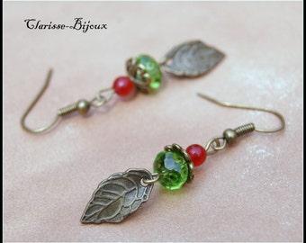 Flower Earrings 9x48mm