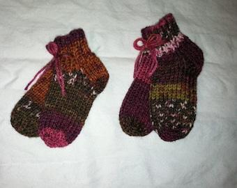 Newborn or Preemie Knit Socks