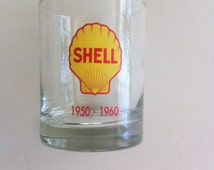 Vintage Old Fashioned Glass Shell Oil Company 1950-1960