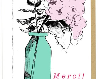Merci Thank You in French Card