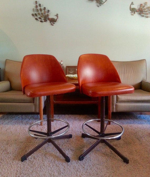 Mid Century Modern Cosco Bar Stools Pair Reserved For