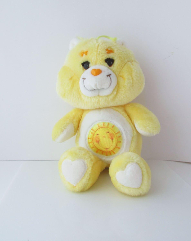 care bears sunshine bear plush toy stuffed vintage kenner 1983