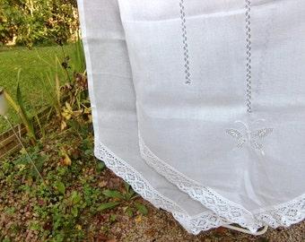 Crochet cafe curtain etsy - Rideaux anciens dentelle ...