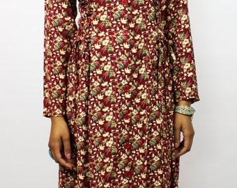 Vintage Floral Boho Maxi Dress