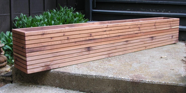 modern window planter boxes mid century modern garden free. Black Bedroom Furniture Sets. Home Design Ideas