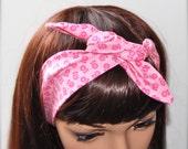 Rockabilly Head Wrap Womens Rosie Wrap Rockabilly Headband Pin Up Headband, FREE U.S. Shipping