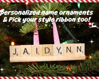 Custom Ornament, Christmas Ornament, Custom Ornament, Name Ornament, Custom Name Ornaments, Scrabble, Personalized Ornaments, Christmas, Mom