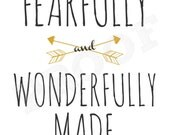 I Am Fearfully and Wonderfully Made Printable 8x10 Wall Art
