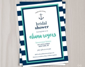 Nautical Bridal Shower Invitations gangcraftnet