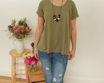 SALE!! Organic Cotton Khaki Tshirt