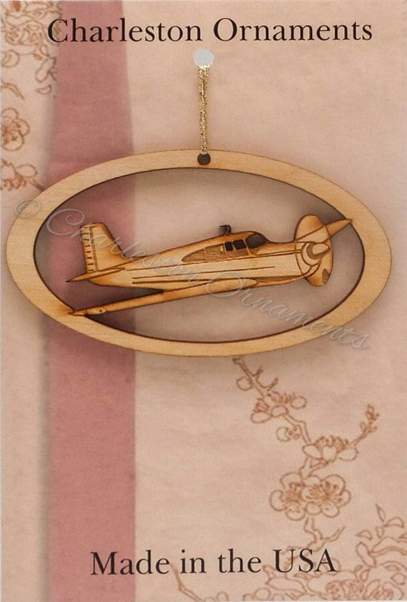 Airplane Ornament Pilot Gift Airplane by PalmettoEngraving