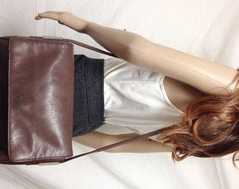 Hillard & Handson,Brown Leather purse, bag, Shoulder Bag,brown leather