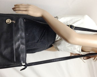 Giani Bernini ,Black Leather Purse ,bag,Shoulder Bag