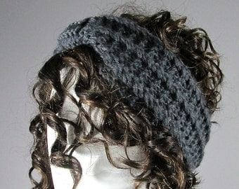 Knitted headband in Gray, Grey headband,  Gray headband,  Earwarmer, HeadBand, knit headband