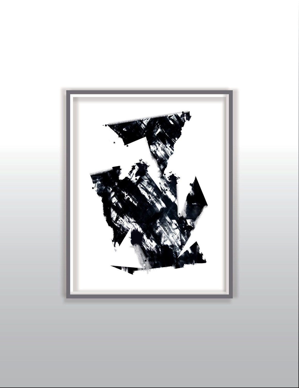 black and white 5 modern art print abstract picture poster. Black Bedroom Furniture Sets. Home Design Ideas