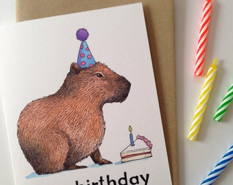 Capybirthday Happy Birthday Capybara Card