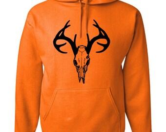 Safety Orange Deer Hoodie