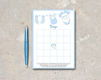Baby Shower Bingo Printable, Baby Boy Bingo Game, Baby Shower Games, Printable Bingo Game, Boy Baby Shower games, Printable Bingo Cards