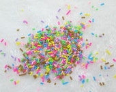3 grams Colorful Assorted Tiny Polymer Clay Sprinkles for Cupcakes Pastries Goodies az4920164