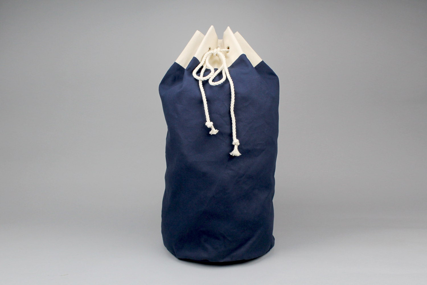 The Arnold Laundry Duffle // Navy Blue Canvas Laundry or