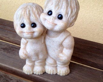 Quarry Kids Greg and Gigi Figurine - Vintage Quarry Collectible Figurines