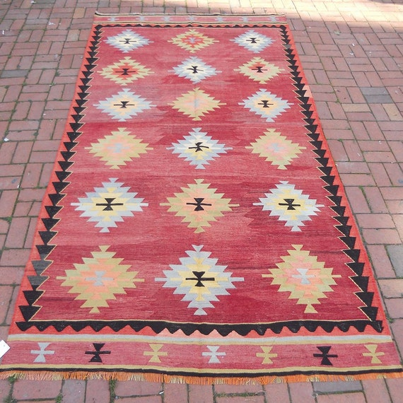 Pastel Bohemian Kilim RugSHIPPING By BUTTERFLYRugs On Etsy