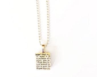 Hope Scrabble Tile Necklace
