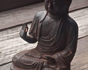 Antique Sitting Buddha Statue / Antique Meditating Buddha Statue / Rare Antique Buddha Sculpture